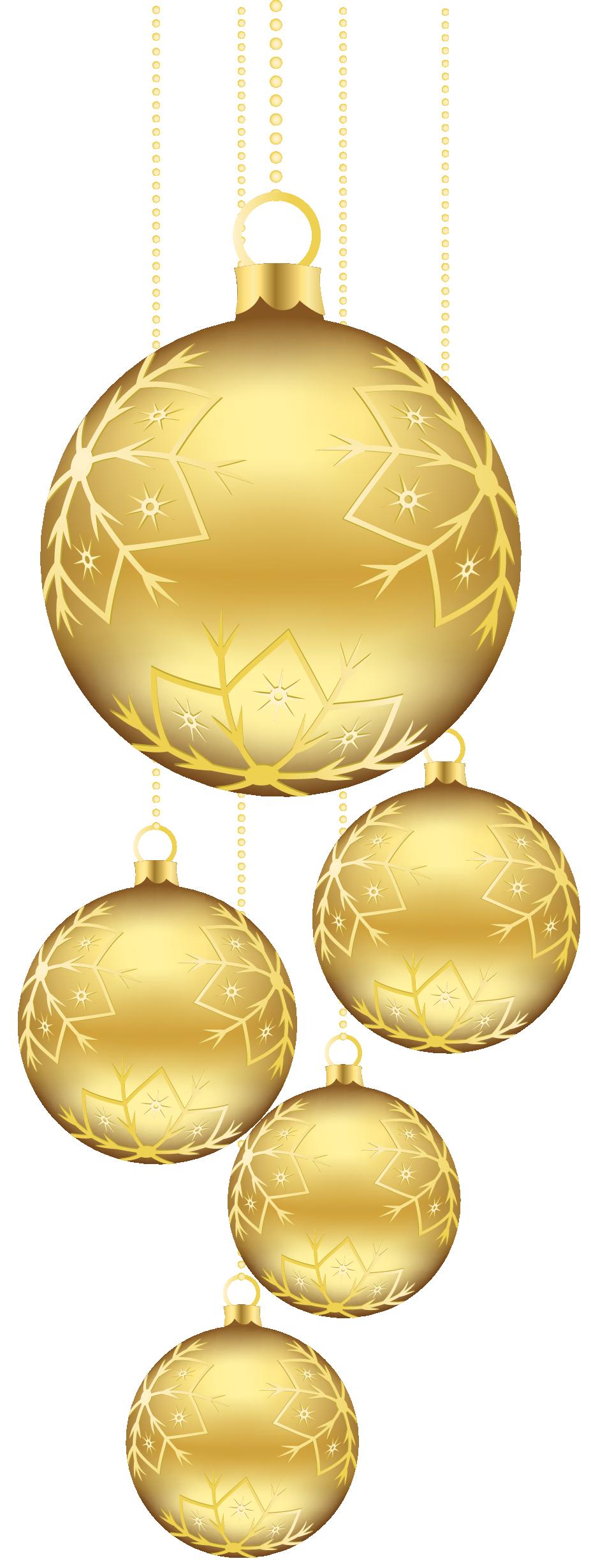 Golden Ball PNG Photo