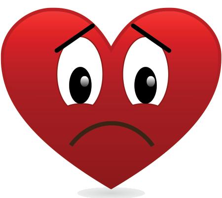 Sad Heart PNG Image Background