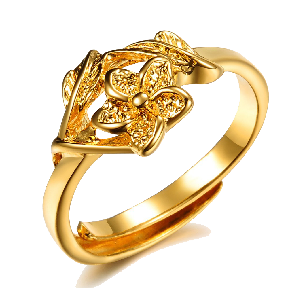 Anniversary Golden Ring PNG Image Background