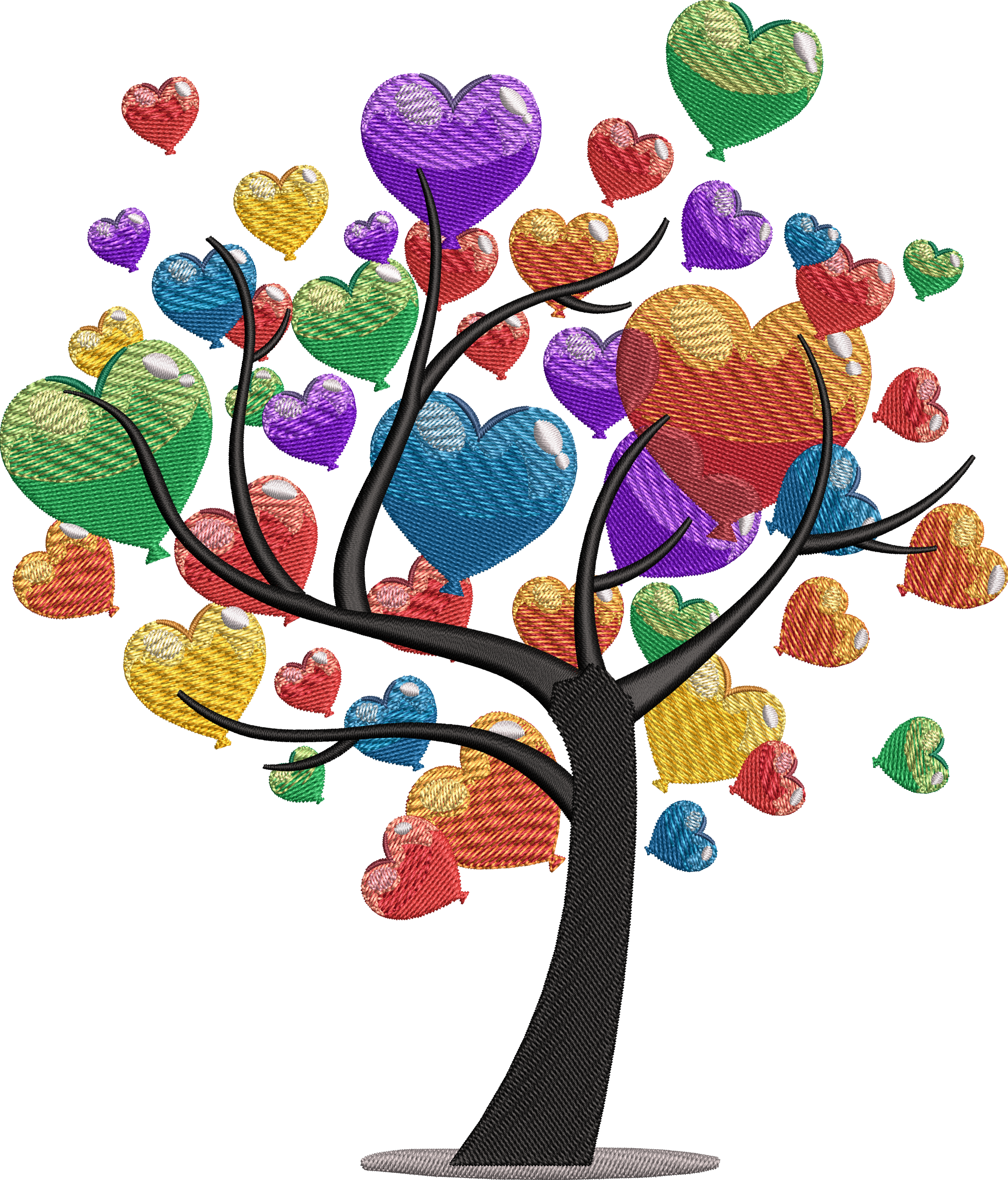 Heart Tree PNG Transparent Image