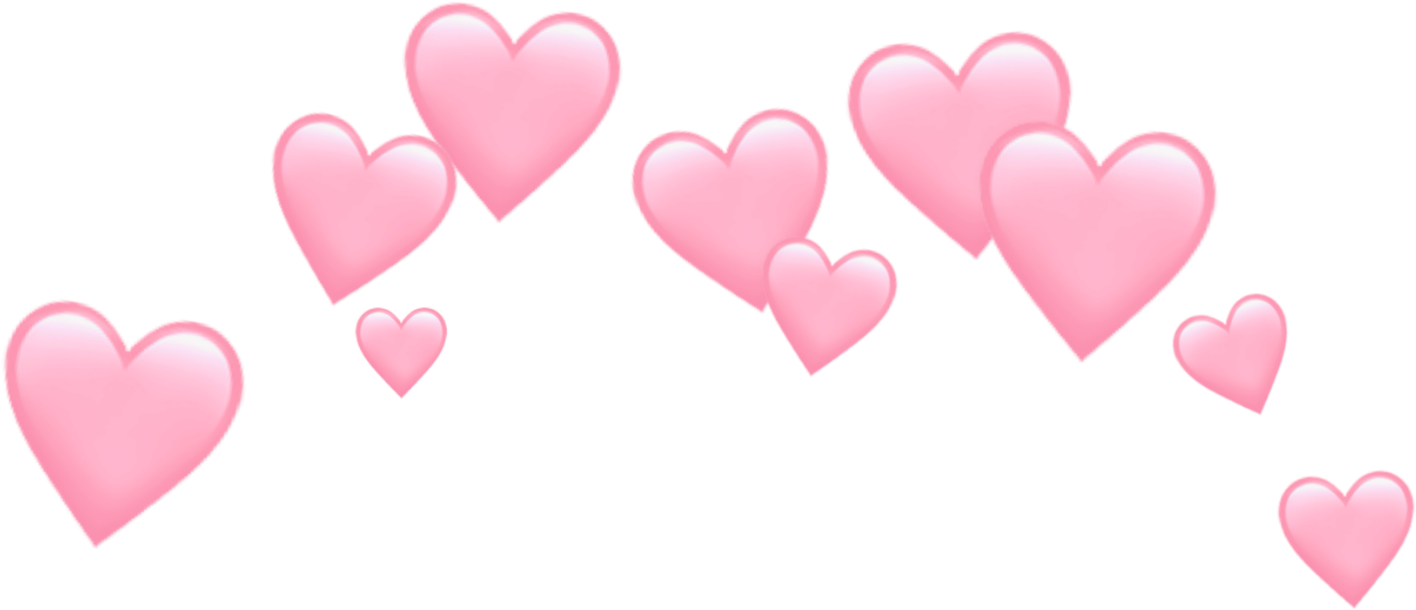 Pink Heart Crown PNG High-Quality Image