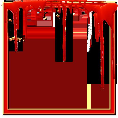 Blood Red Frame PNG Transparent Image