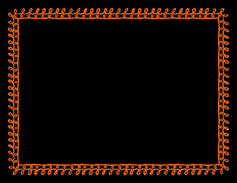 Orange Floral Border Transparent Images