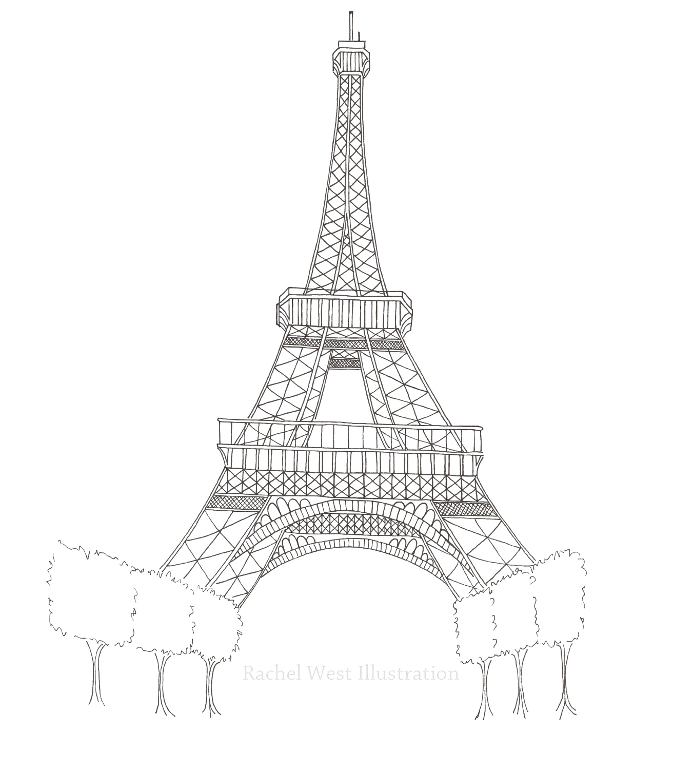 Eiffel Tower Silhouette Transparent Images