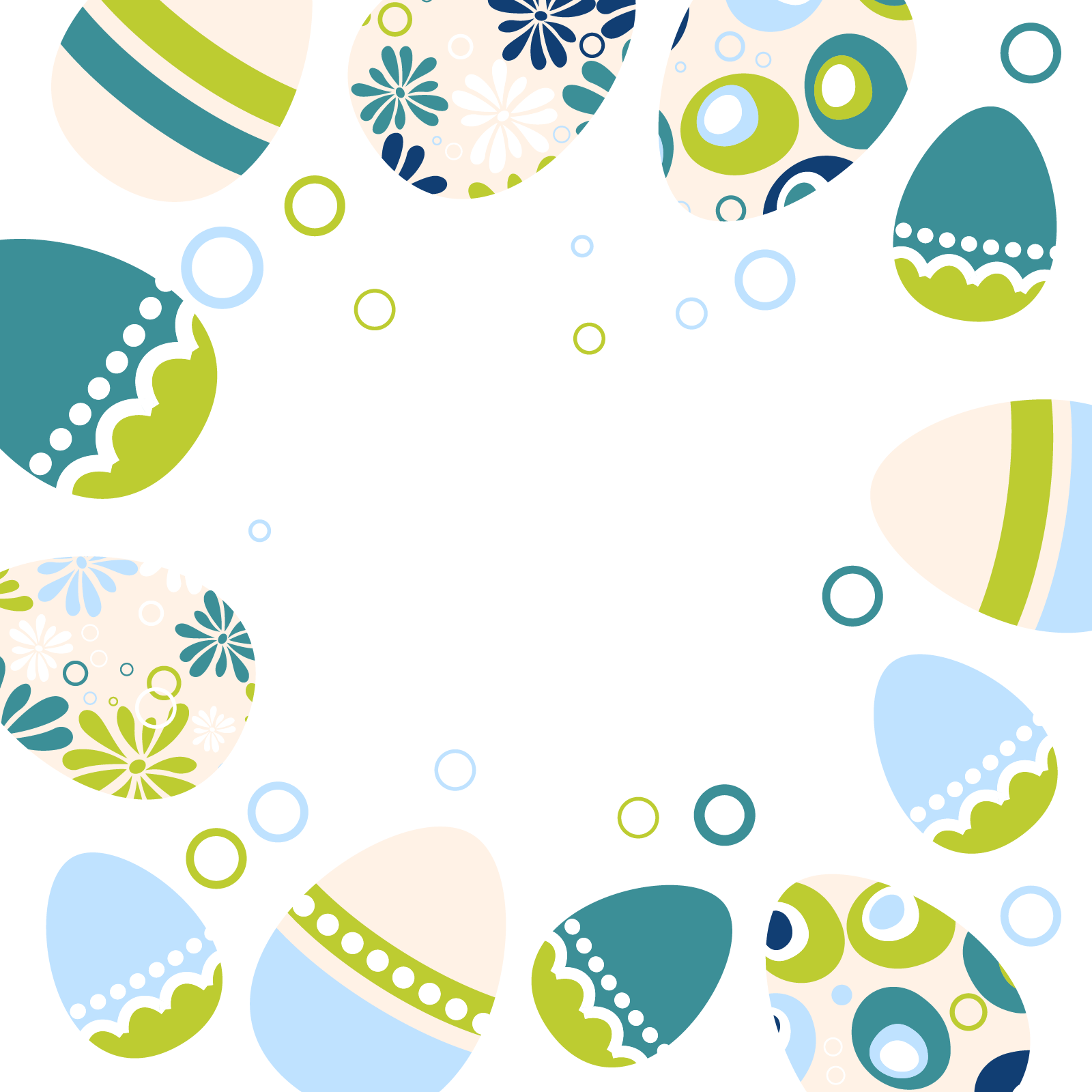 Decorative Easter Border Free PNG Image