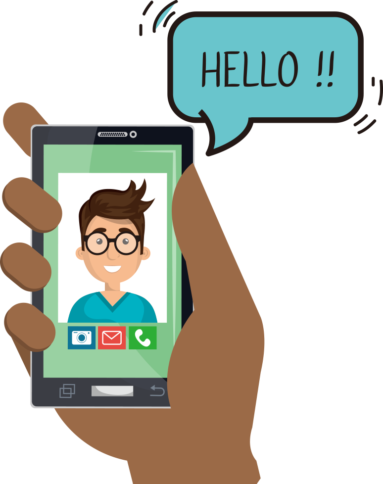 Video Call Transparent Background PNG
