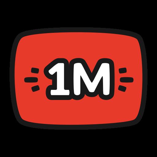 1 Million YouTube PNG Photo