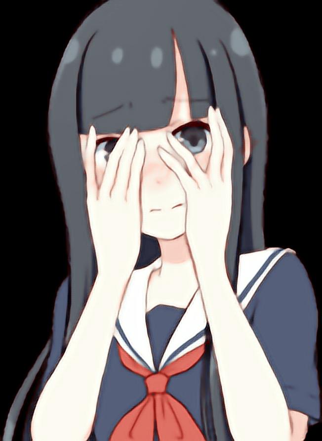 Anime Girl Face Meme PNG Transparent Image