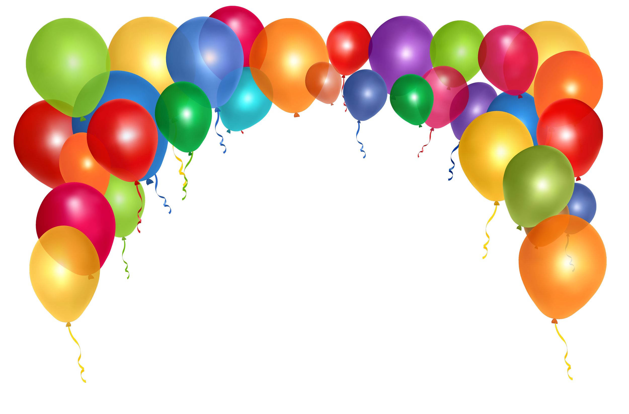 Colorful Balloons PNG Transparent Image