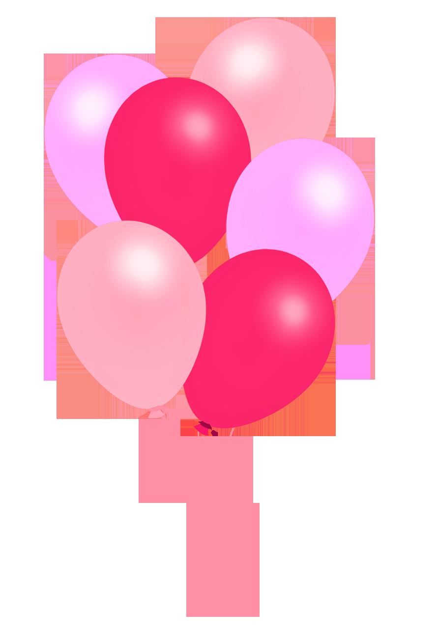 Pink Balloons PNG Free Download