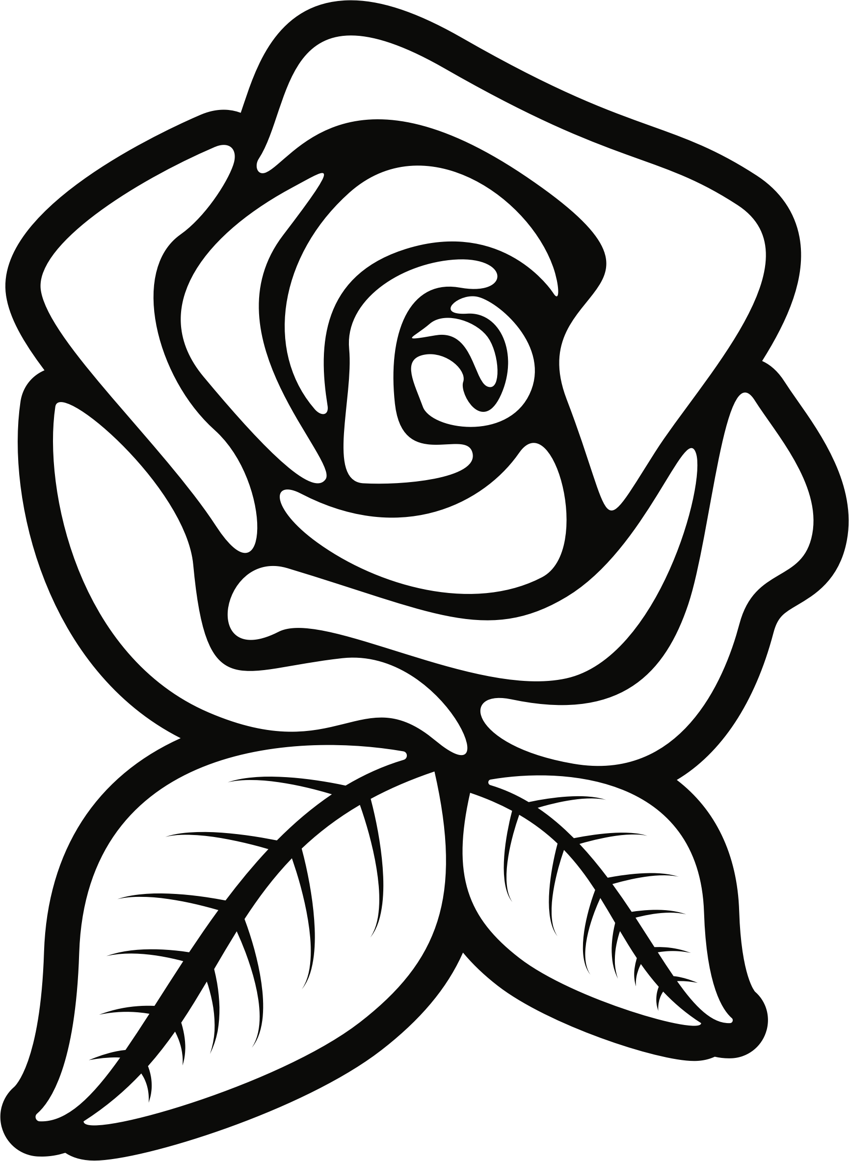 Black And White Rose Tattoo PNG Background Photo