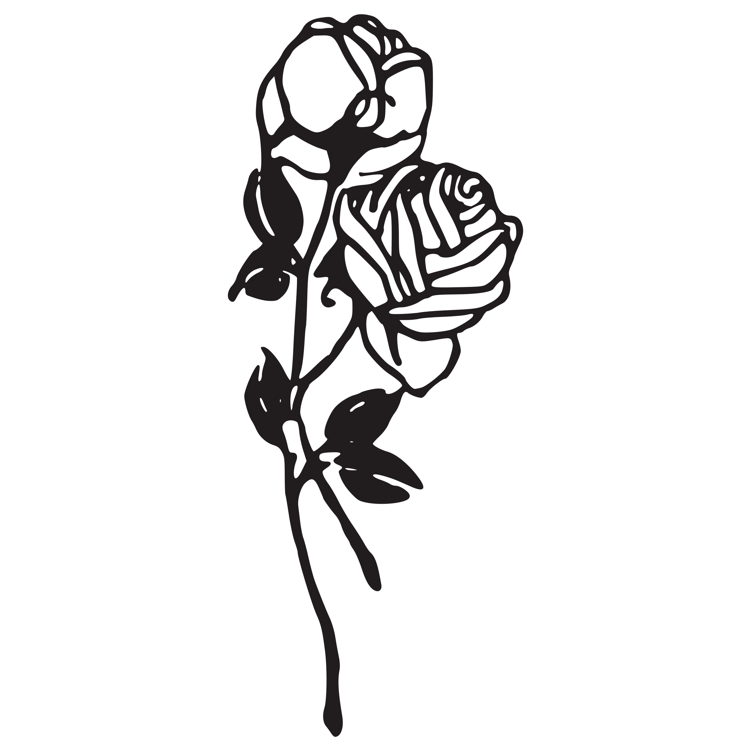 Black And White Rose Tattoo PNG Image Free Download